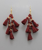 Tassel & Glass Earrings