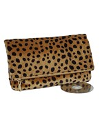 Fold Over Cheetah Clutch
