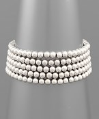 5 Row 5MM Ball Bead Bracelet Set