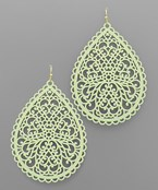 Color Filigree Teardrop Earrings