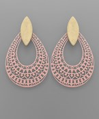 Filigree Teardrop & Marquise Earrings